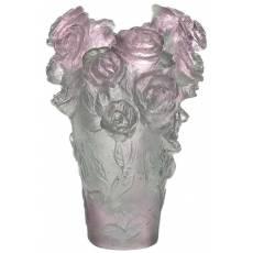 """Ваза для цветов зелёно-розовая """"Rose Passion"""" Daum 05264-1/C"""