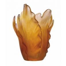 """Ваза для цветов янтарная """"Tulipe"""" Daum 05213-1"""