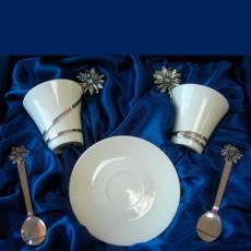 "Набор ""Tsar Margarette"" из 2 чаш с блюдцами + 2 ложки FABERGE 292248"