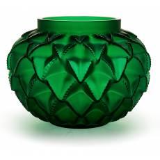 """Ваза для цветов зелёная большая """"Languedoc"""" Lalique 10488200"""