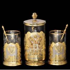 """Чайный набор подарочный """"Гербовый"""" Златоуст Авторские работы RV0032128CG"""