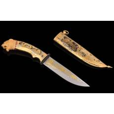 "Нож ""Леопард"" Златоуст Авторские работы RV6924CG"