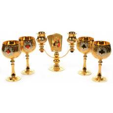 """Подарочный питейный набор для вина """"Джокер"""" Златоуст Авторские работы RV0010388CG"""