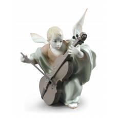 """Статуэтка """"Ангел с виолончелью"""" Lladro 01009186"""