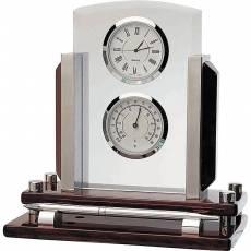 Часы настольные с термометром Linea del Tempo A9104R
