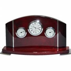 Часы настольные с термометром и гигрометром Linea del Tempo A9121R