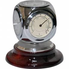 Часы настольные с термометром, гигрометром и компасом Linea del Tempo A9326R
