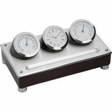 Часы настольные с термометром и гигрометром Linea del Tempo A9233R