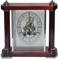 Часы настольные с механизмом скелетон Linea del Tempo S2511R