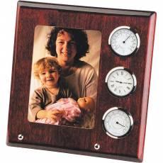 Рамка для фото с часами, термометром и гигрометром Linea del Tempo A9054R