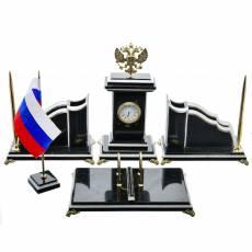"""Настольный набор для руководителя """"Герб"""" с часами RV0040712CG"""