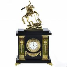 """Часы настольные из камня """"Георгий Победоносец"""" RV0037331CG"""