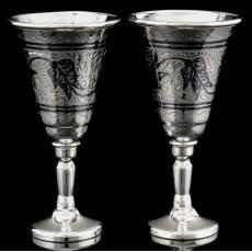 Набор рюмок для водки серебро 875 гравированные RV0040409CG