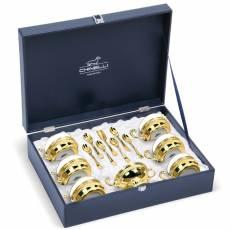 """Набор для чая """"Gold Plated"""" Chinelli 6069001/01"""