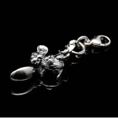 """Брелок серебряный """"Мышка с ложкой"""" RV0044109CG"""