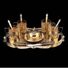Чайный набор с ножами на 4 персоны Златоуст RV0044331CG