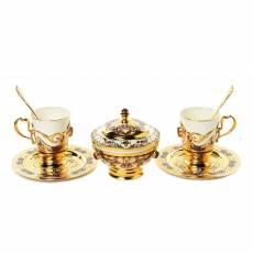 Кофейный набор на 2 персоны + сахарница Златоуст RV0034907CG