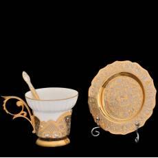 Чашка на блюдце Златоуст RV0019948CG