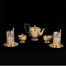 Чайный сервиз на 2 персоны Златоуст RV0029398CG