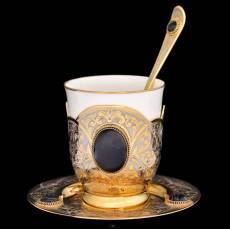 Чашка на блюдце Златоуст RV0024564CG