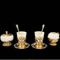"""Кофейный набор Златоуст """"На двоих"""" на две персоны RV0028734CG"""