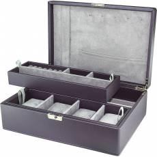 Шкатулка для украшений и 4-х часов Rivoli W-3-4-purple