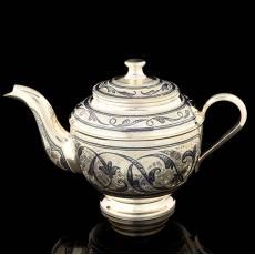 Заварочный чайник (Серебро 875, гравировка, чернение) RV0048071CG