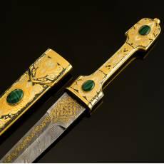 Кинжал сувенирный с кабошонами. Златоуст RV0013233CG