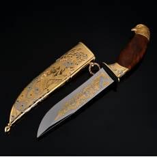Нож с цельнометаллическими ножнами Златоуст RV0044444CG