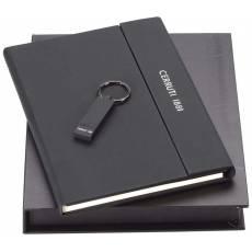 Набор: блокнот А5, брелок с USB-флешкой на 4 Гб 67185