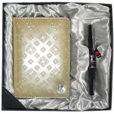 Набор: ручка шариковая, обложка для паспорта 411139