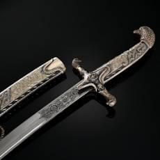 Сабля серебряная сувенирная с гравировкой RV0050906CG