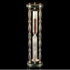 Песочные подарочные часы из камня (нефрит) Златоуст RV0039330CG