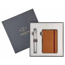 Набор ручка перьевая+блокнот Parker Urban Premium Pearl Metal CT 2018975