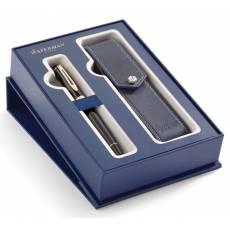 Набор Waterman ручка перьевая+чехол для ручки Expert Black Laque GT 2019844