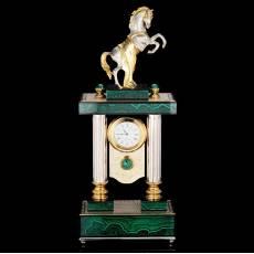 """Часы восточные """"Конь с попоной"""" Малахит Златоуст RV0039546CG"""