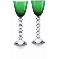 """Набор из 2-х зелёных бокалов для вина """"VEGA"""" Baccarat 2812268"""