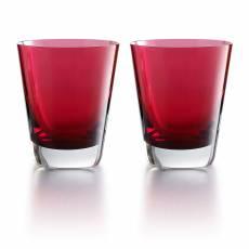 """Набор из 2-х красных стаканов для сока """"Mosaique"""" Baccarat 2811578"""
