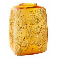 """Ваза для цветов золотая """"Fleurs de Cerisier"""" Lalique 10708200"""