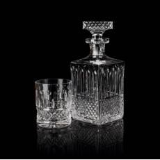 """Набор из штофа и 6-ти стаканов для виски """"Xenia"""" прозрачный Tsar Faberge 53035-6"""