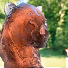 """Скульптура """"Голова пантеры"""" Patrick Villas Daum (Лимитированная серия 125 экз) 05607"""