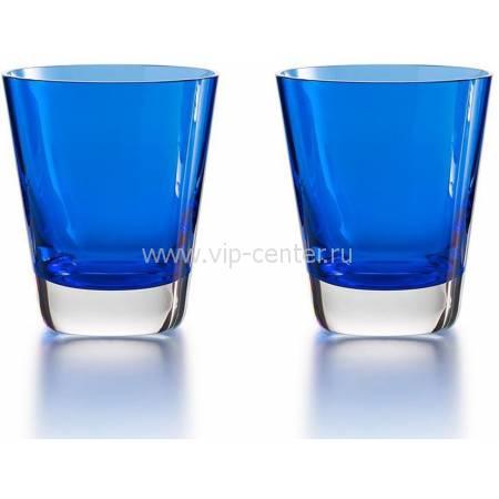 """Набор из 2-х синих стаканов для сока """"Mosaique"""" Baccarat 2811108"""