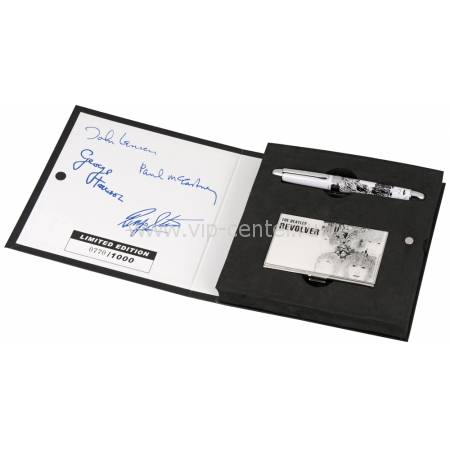 """Набор The Beatles """"REVOLVER"""": визитница, ручка роллер 50748"""